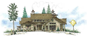 Model D elevation | The Preserve at Gotham Bay | Coeur d'Alene, Idaho