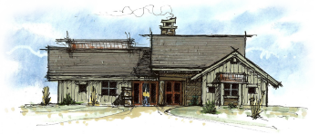 Model F elevation | The Preserve at Gotham Bay | Coeur d'Alene, Idaho