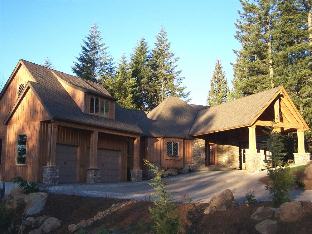 Premier front elevation | The Preserve at Gotham Bay | Coeur d'Alene, Idaho