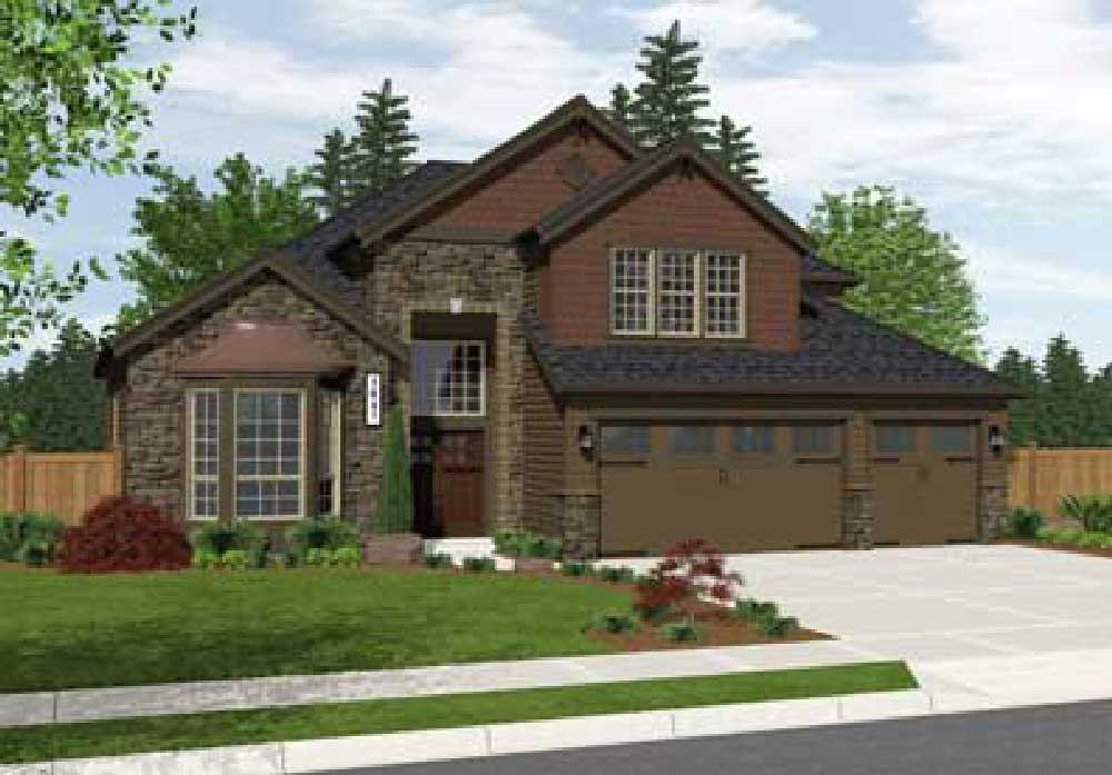 Ridgeview front elevation | The Preserve at Gotham Bay | Coeur d'Alene, Idaho